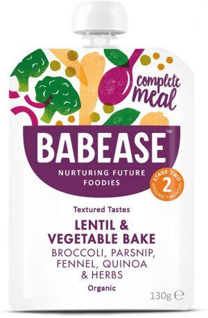 Organic Lentil & Vegetable Bake 130g