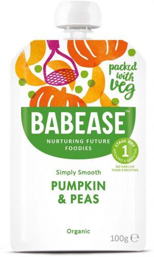Organic Pumpkin & Peas 100g