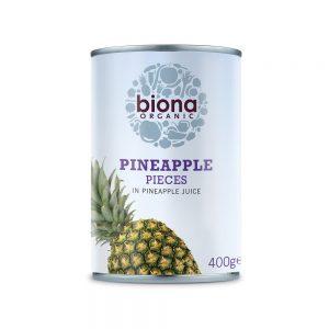 Organic Pineapple Pieces In Pineapple Juice 425g