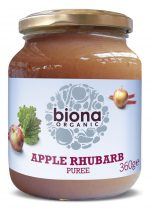 Organic Apple & Rhubarb Puree - No Added Sugar 360g