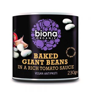 Baked Giant Beans In Tomato Sauce Organic 230g
