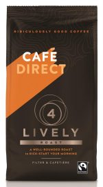 Lively Roast Strength 4 Fairtrade Ground Coffee 227g