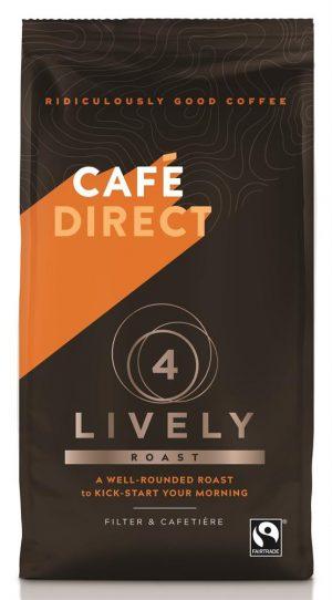 Lively Roast Strength 4 Fairtrade Ground Coffee 227g