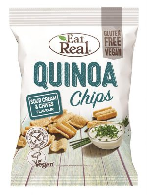 Quinoa Sour Cream & Chive Chips 80g