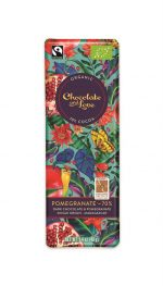 Organic /Fairtrade Dark Chocolate With Pomegranate 70% 40g