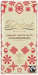 White Choc with Strawberries 90g