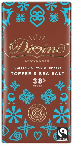 Milk Choc Toffee & Salt 90g