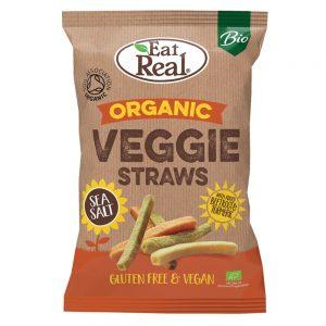 Organic Veggie Straws Sea Salt 100g