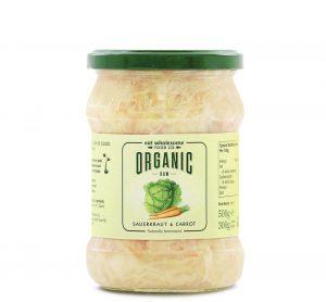 Organic Raw Sauerkraut & Carrot 500g