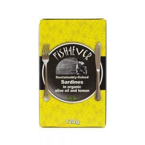 Whole Sardine in Organic Oil Lemon 135g