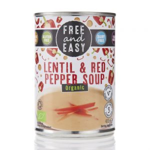 Free & Easy Organic Lentil And Red Pepper Soup 400g
