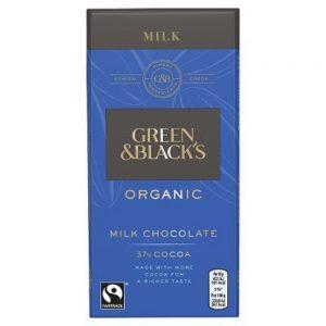 Organic Milk Chocolate 37% Cocoa 90g