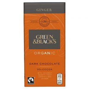 Organic Dark Choc Ginger 60% 90g