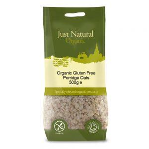 Organic Gluten Free Porridge Oats 500g