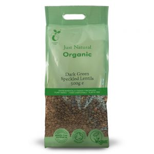 Organic Dark Green Speckled Lentils 500g