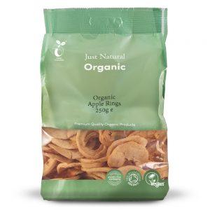 Organic Apple Rings 250g