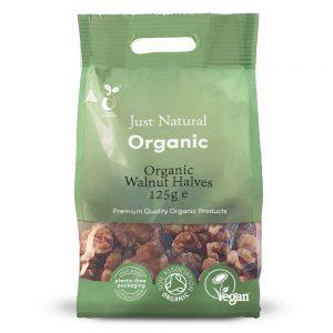 Organic Walnut Halves 125g
