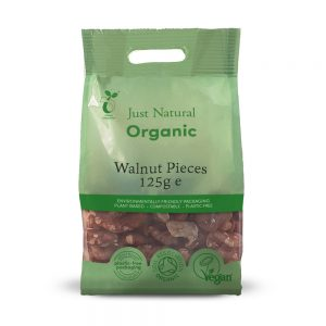Organic Walnut Pieces 125g