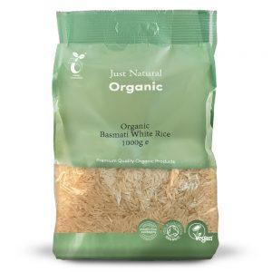 Organic Basmati White Rice 1000g