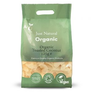 Organic Toasted Coconut 125g