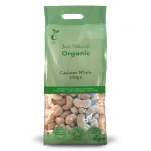 Organic Cashews Whole 500g