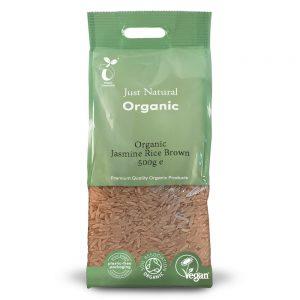 Organic Jasmine Rice Brown 500g