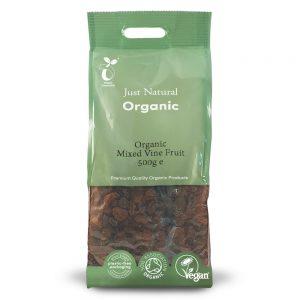 Organic Mixed Vine Fruit 500g