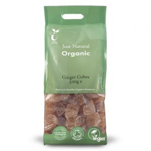 Organic Ginger Candied Cubes 500g