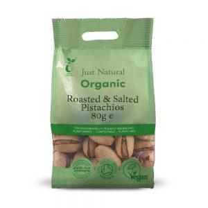 Organic Roast & Salt Pistachios 80g