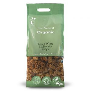 Organic Dried White Mulberries 250g