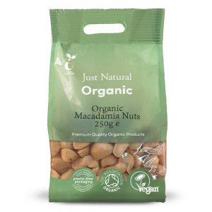 Organic Macadamia Nuts 250g