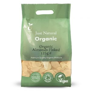 Organic Almonds Flaked 125g