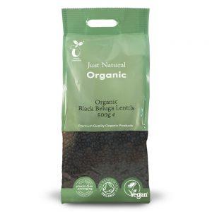 Organic Black Beluga Lentils 500g