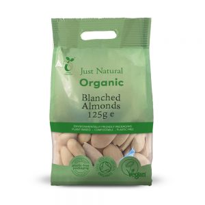 Organic Almonds Blanched 125g