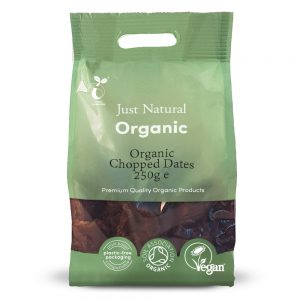 Organic Chopped Dates 250g