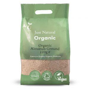 Organic Almonds Ground 220g