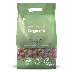 Organic Pistachios Raw 250g