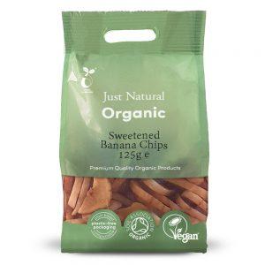 Organic Banana Chips 125g