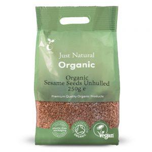 Organic Sesame Seeds Unhulled 250g