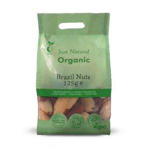 Organic Brazils Whole 125g