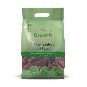 Organic Pecan Halves 125g