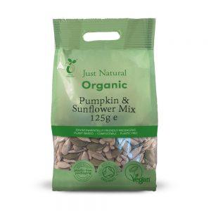 Organic Pumpkin & Sunflower Mix 125g