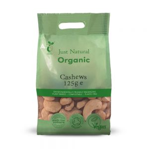 Organic Cashews Whole 125g