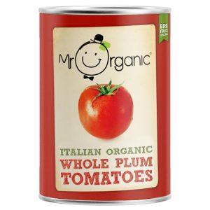 Organic Whole Plum Tomato 400g