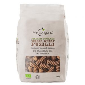 Organic Fusilli Wholewheat 500g