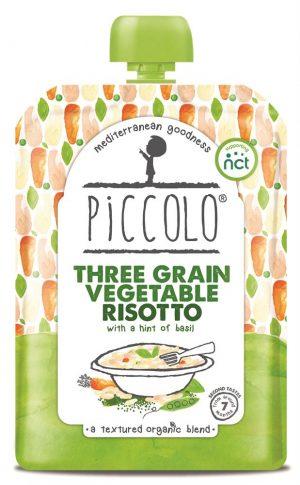 Three Grain Vegetable Risotto With Basil Pesto 130g