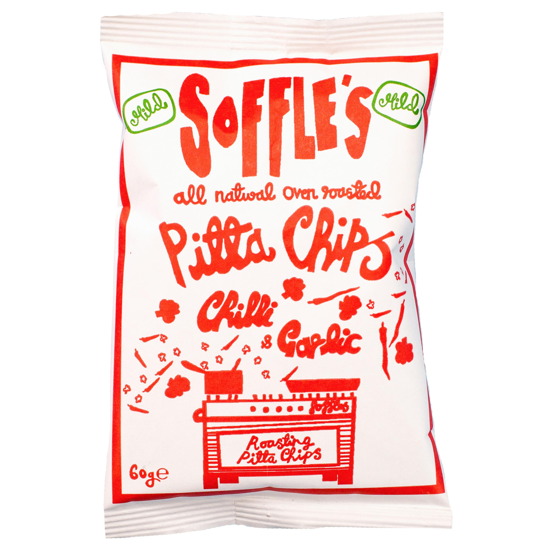 Soffles Pitta Chips Pitta Chips Chilli & Garlic 60g