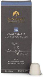 Sendero Coffee Pods x 10 - Brazil DECAF (Nespresso Compatible)