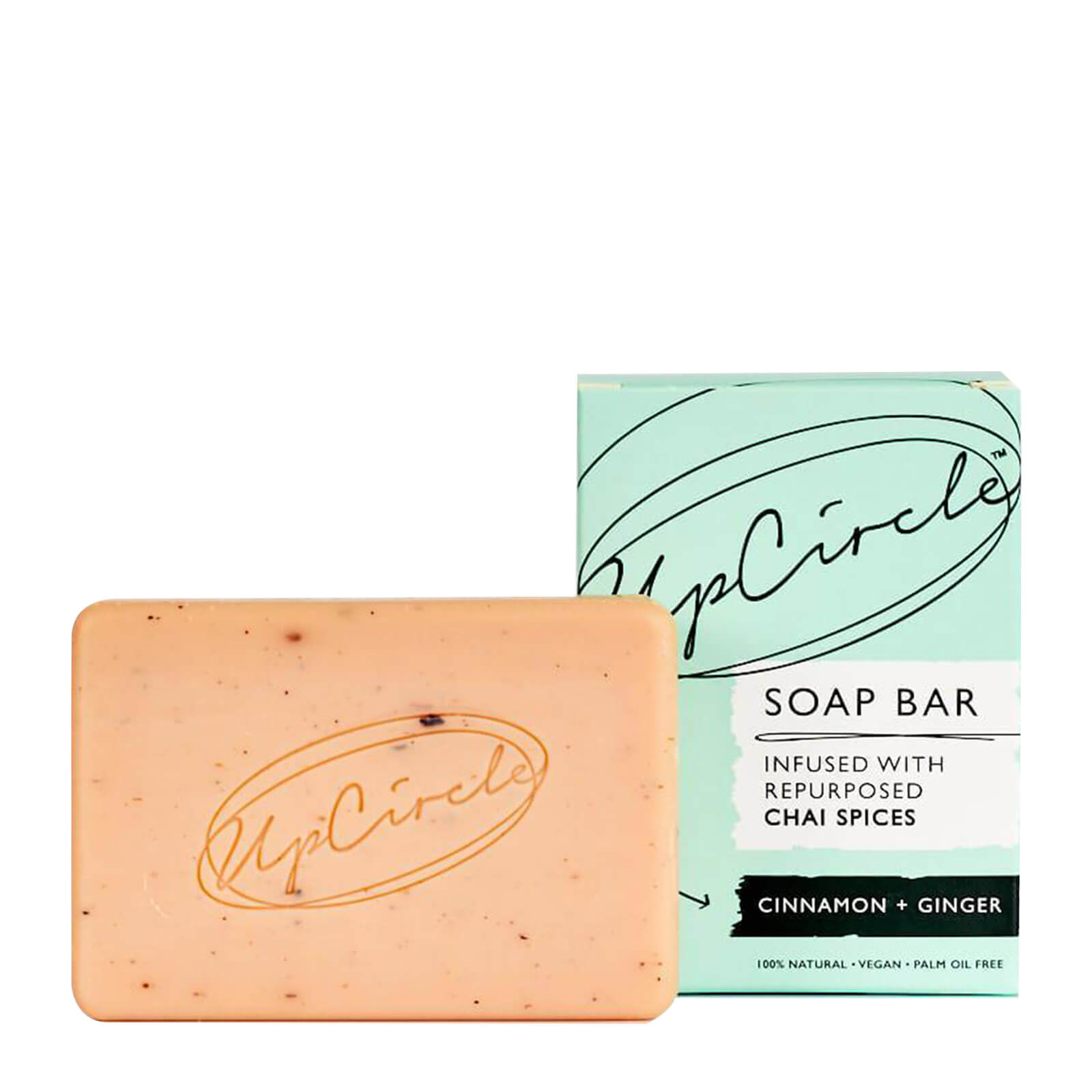 Upcircle Beauty Cinnamon & Ginger Chai Soap Bar