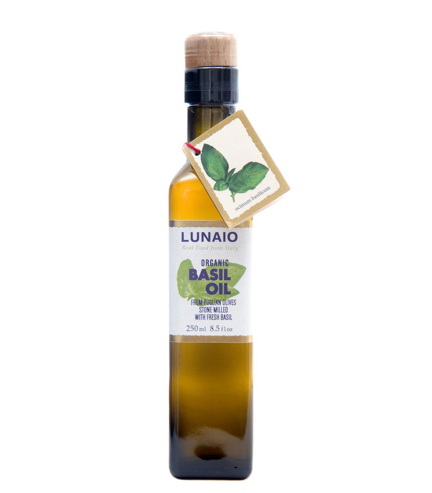 Lunaio By Seggiano Organic Stonemilled Basil Olive Oil 250ml